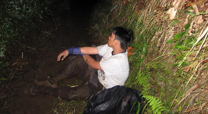 Mt Apo trek - exhaustion along the trail