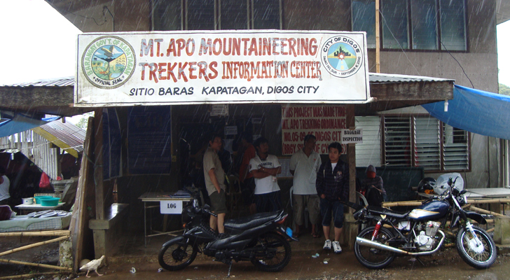 Mt Apo Trek - Registration Area