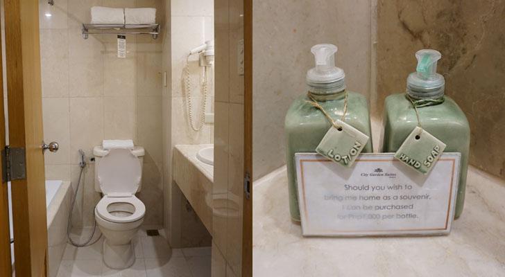 City Garden Suites Manila - toilet and bath
