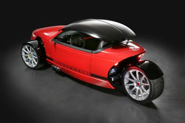 The three-wheel Vanderhall is a autocycle with a Chevrolet Sonic as a relative.