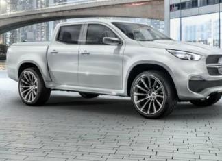 The concept vehicle of the new Mercedes-Benz X Class pickup truck.
