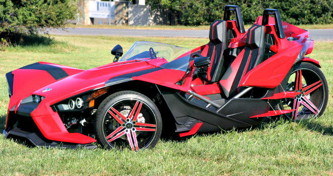 The Polaris Slingshot is among the EV alternative to the Elio.