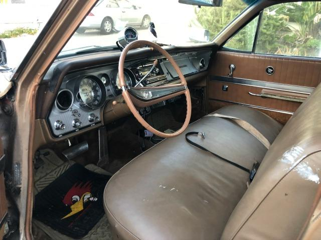 The well-worn interior of Eric Wohlberg's 1964 Buick LeSabre estate wagon.