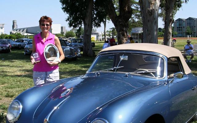 Leigh Rutledge and her 1956 Porsche 356 Cabriolet. Images © Bruce Aldrich/2018.