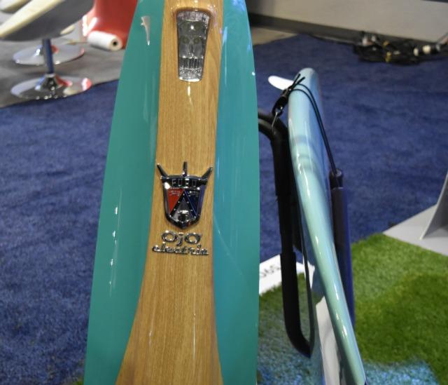 Ojo Scooters offered a variety of retro-styes scooters.