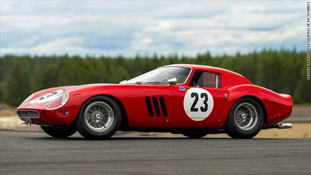 A 1962 Ferrari 250 GTO sold for $48.8 million at RM Sotheby's Auction, the most ever for a vehicle sold at auction.