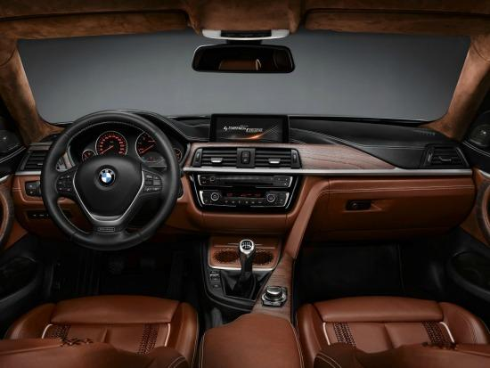 The stunning interior of the 2014 BMW 4-Series Coupe.