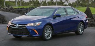 The 2015 Toyota Camry Hybrid has been restyled inside and outside.