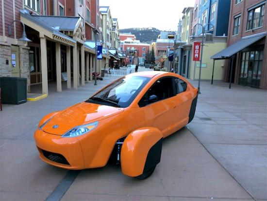 The latest prototype of the Elio Motors three-wheel vehicle is scheduled to be introduced at the L.A Auto Show, Nov. 19.