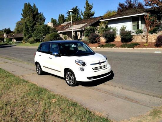 The two-tone exterior of the 2014 Fiat 500L makes it look like a saddle shoe.