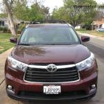 The 2015 Toyota HIghlander has good overall vision.