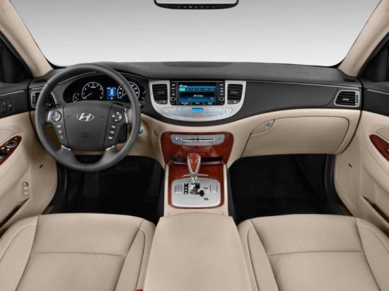 The interior of the 2013 Hyundai Genesis is luxurious