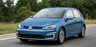 The 2015 Volkswagen e-Golf in the carmaker's first fully electric vehicle.