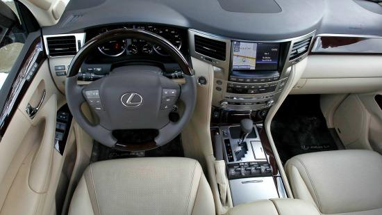 The 2014 Lexus LX570 has a plush, roomy interior.