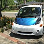 The Mitsubishi i-MIEV has a futurstic look