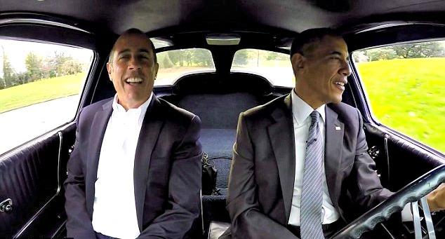 President Obama smooth, Seinfeld sputters in Corvette
