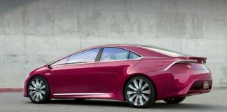 Wild exterior color for Toyota Prius concept car.