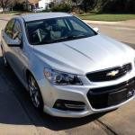 The clean front lines of the 2014 Chevrolet SS.