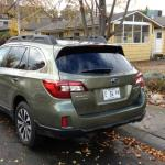 The cargo area of the 2015 Subaru Outback had been expanded.