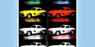 One of the silkscreen series of cars created by Andy Warhol.