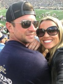 Cute Couple at Notre Dame Game