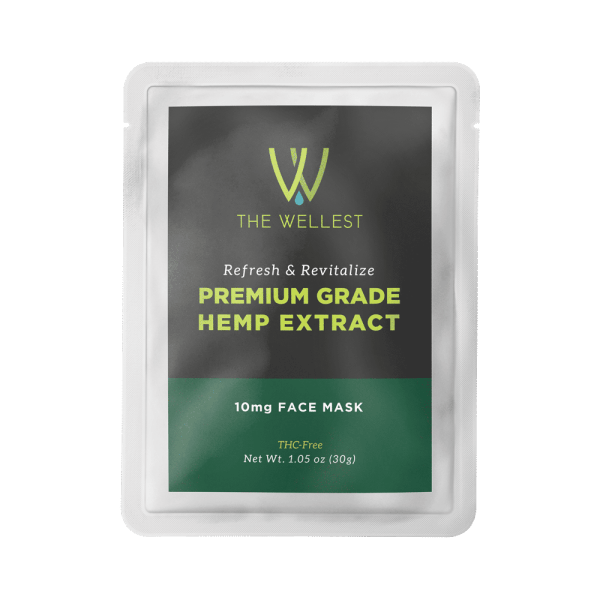 Premium CBD Hemp Extract Refresh and Revitalizing Face Mask 10mg
