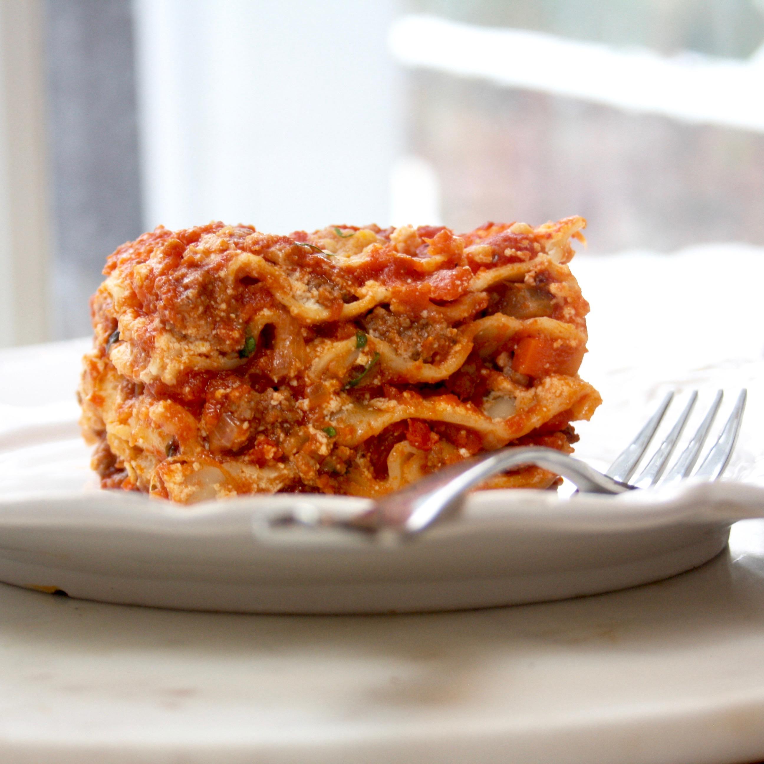 Comfort food lasagna