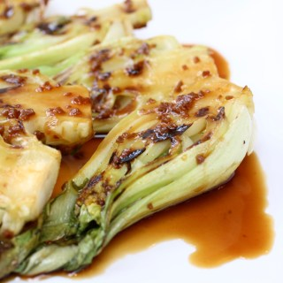 Baby Bok Choy with Teriyaki Sauce