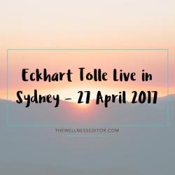 Eckhart Tolle live in Sydney 2017