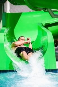 Matt coming down the Green slide (twisty one)
