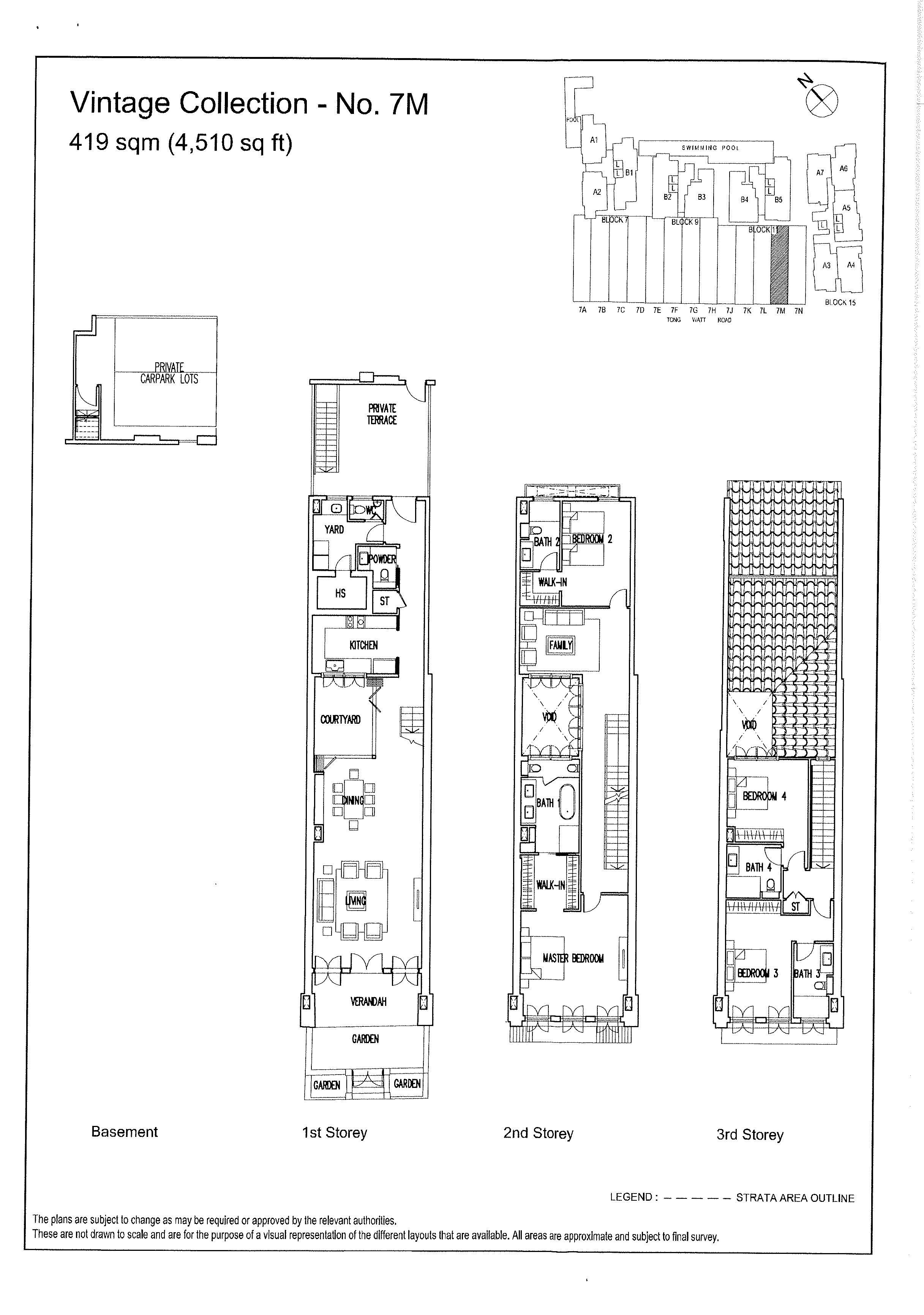 The Wharf Residence Heritage House 7M Floor Plans