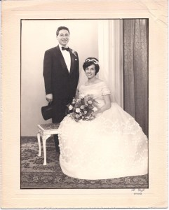 Margaret and Milton Jeffries. First wedding of the WHC in the original school building. June 28th 1961