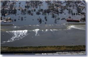 katrina broken levee quer 47434 300x196 Hurricane Sandy Destroys Republican Ideology