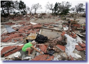 NYT katrina womanrubble resized 300x216 How A Real President Responds To Crisis