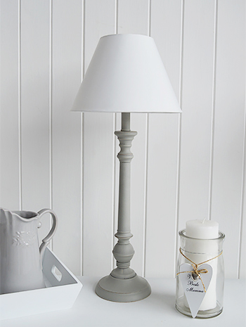 Grey And White Table Lamp The White Lighthouse