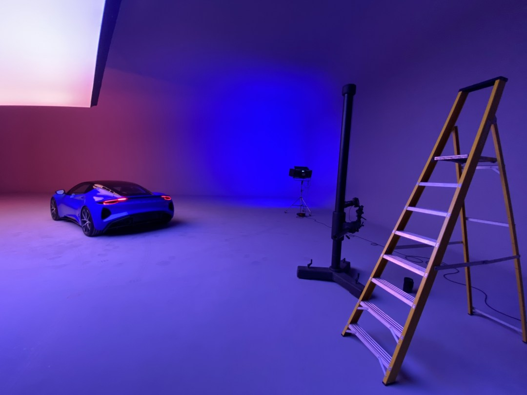 lotus emira in the studio with some ladders
