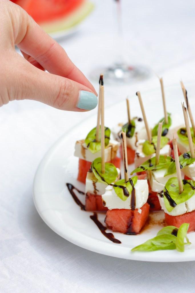 Wer hat Lust auf Melone-Feta-Spieße?