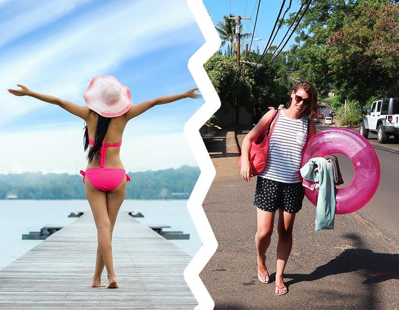 Von Beachbabes und schwitzenden Packeseln | Mi-Mini