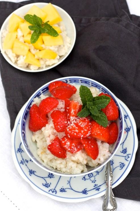 Mit Mango oder Erdbeeren
