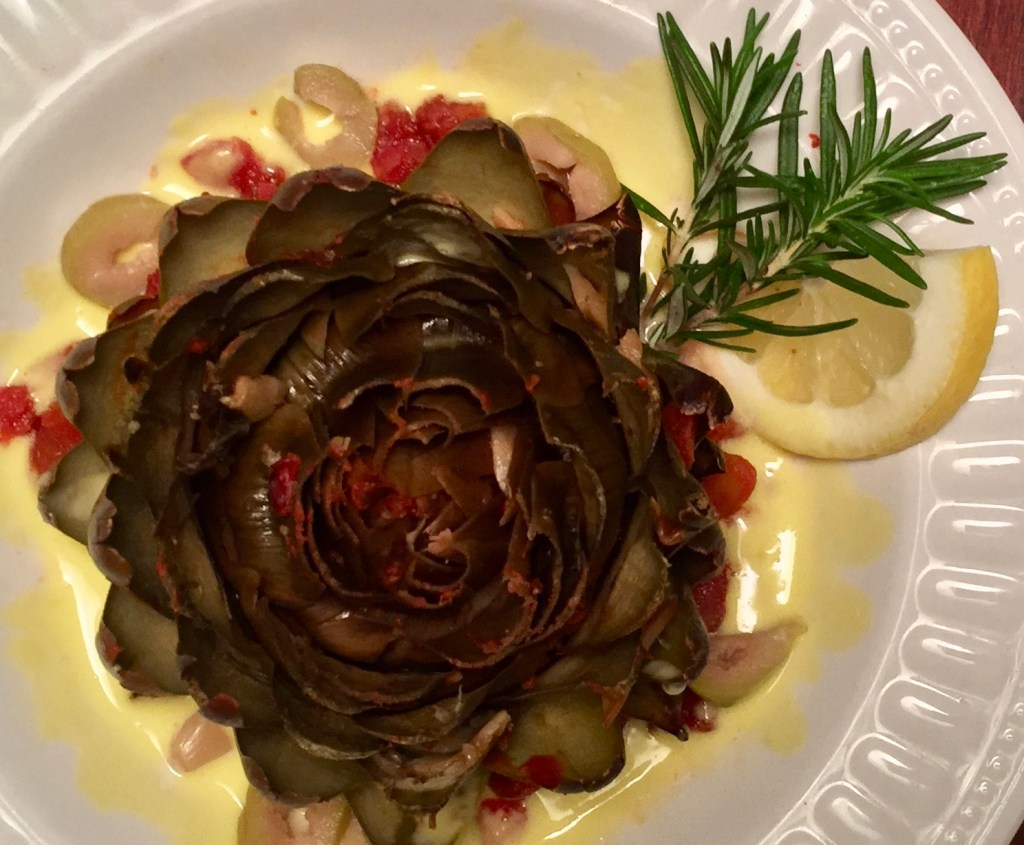 slow cooker artichokes