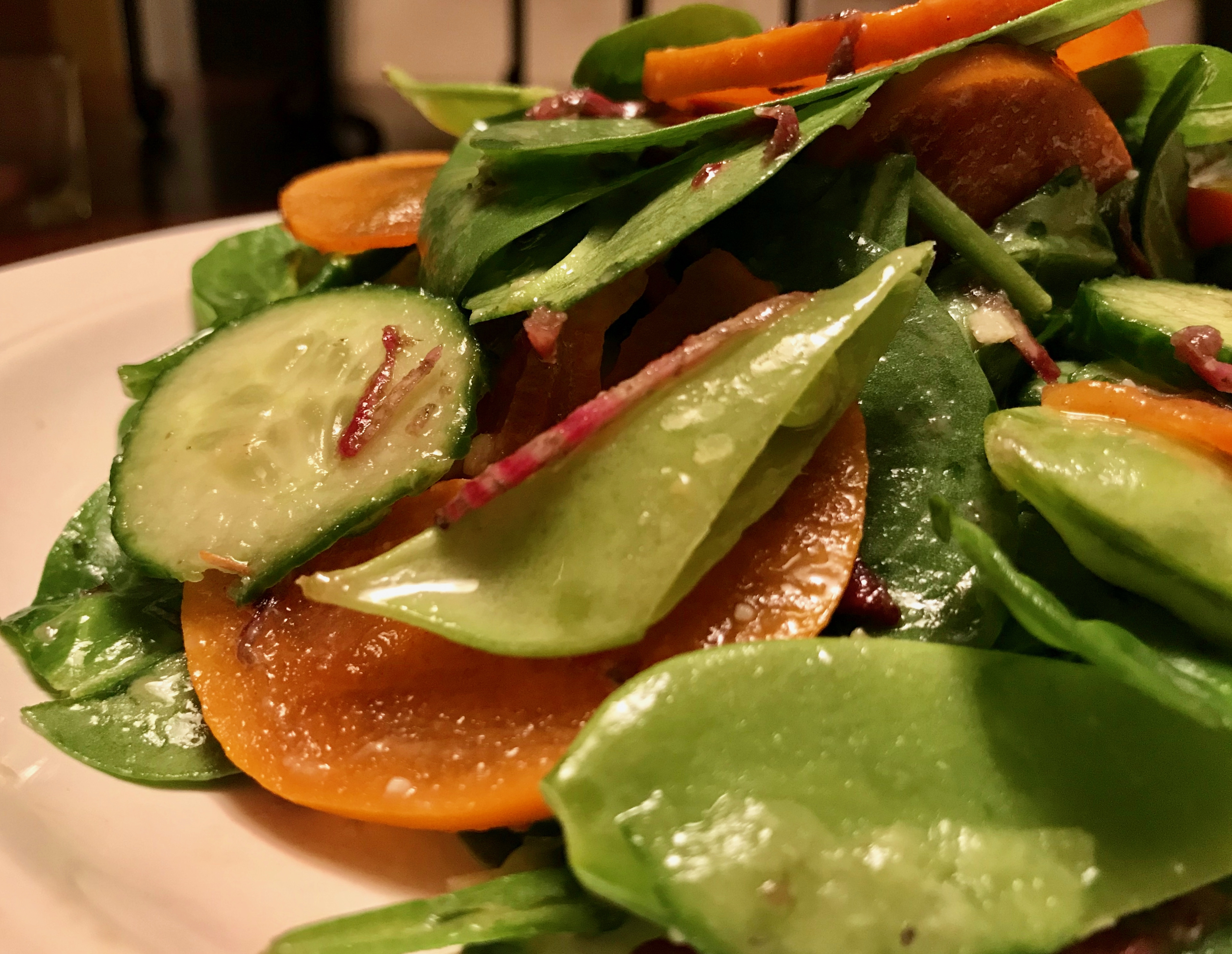 Spinach Persimmon Salad for Your Holiday Table