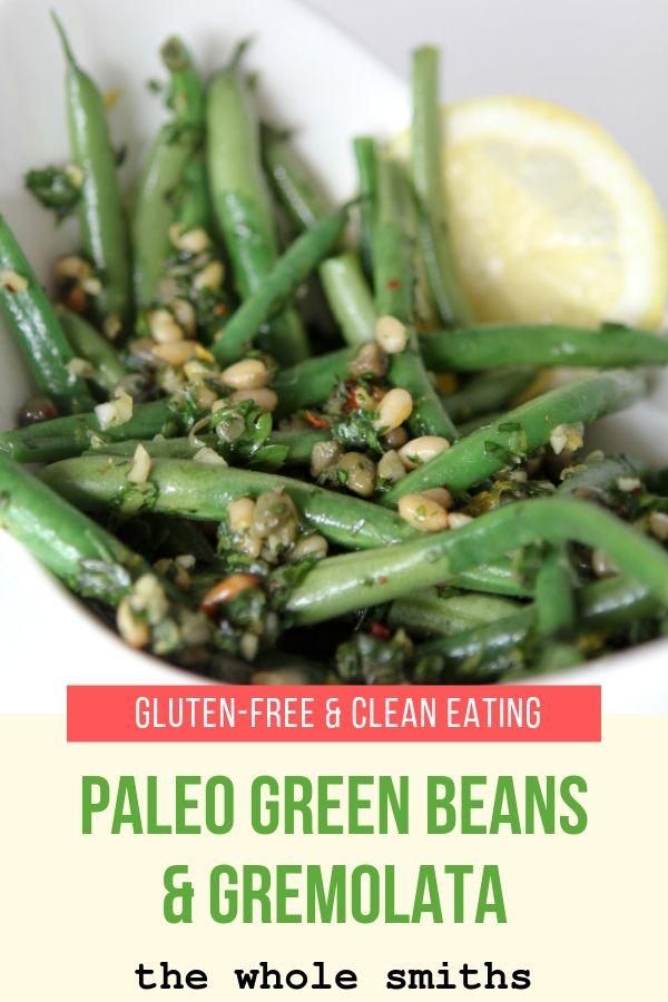 paleo green beans pinterest graphic