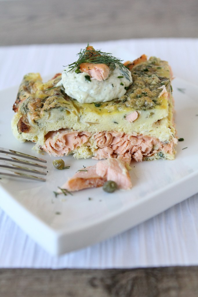 Salmon Frittata from the Whole Smiths. Perfect for any breakfast or brunch! Paleo friendly, gluten-free and Whole30 compliant.