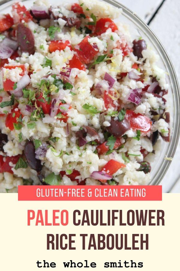Paleo Cauliflower Rice Tabouleh