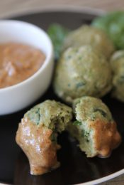 Easy peasy Thai Basil Meatballs. Great for left overs and gluten free and paleo friendly!