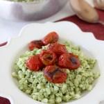Pesto Cauliflower Cauliettes + Blistered Tomatoes