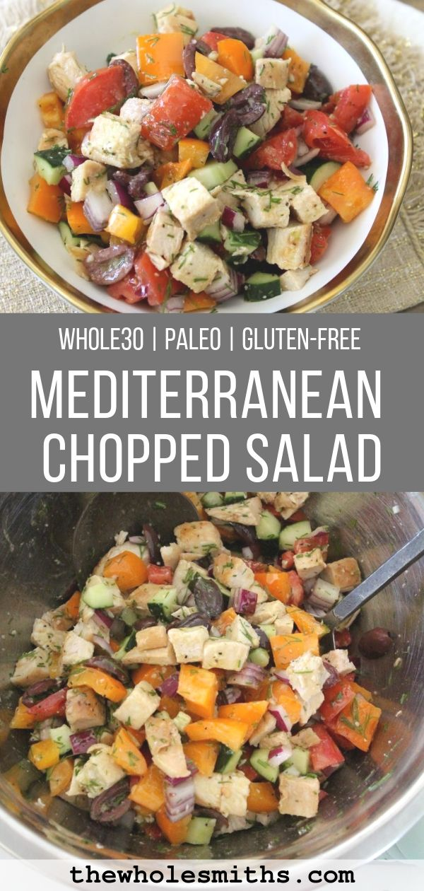 Whole30 Chopped Salad Pinterest Graphic