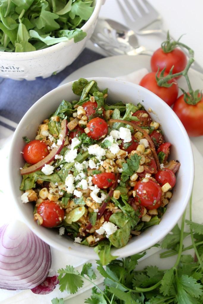 Summer Tomato + Corn Salad