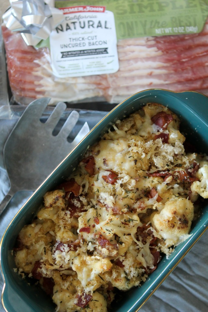 A Cauliflower + Bacon Gratin from The Whole Smiths. A MUST-make.