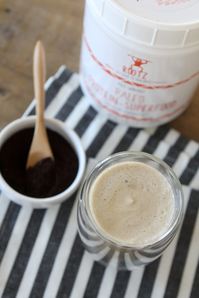 An easy-to-make paleo Mocha Protein Shake recipe from The Whole Smiths. This tasty shake makes a great compliment to your breakfast or any post-workout.